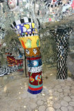The garden tarot. A sculpture, a particular column in Tarot Garden, a Park located in Garavicchio, near Pescia Fiorentina, village and town of Capalbio in royalty free stock photography