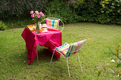 Garden tea party Stock Images