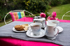 Garden tea party Royalty Free Stock Images