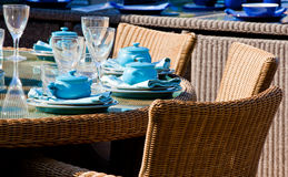 Garden tea party and fine dining Royalty Free Stock Images