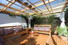 Garden teahouse Stock Photo