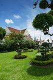 Garden in the Temple Wat Arun Royalty Free Stock Images
