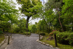 Garden in Tenryu-ji Temple, Kyoto, Japan Stock Image
