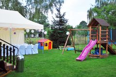 Garden tent ready to party Stock Images