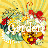 Garden text illustration Royalty Free Stock Photo