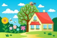 Garden theme image 2. Eps10 vector illustration Royalty Free Stock Image