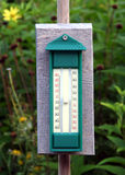 Garden thermometer Stock Images