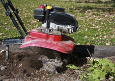 Garden tiller Royalty Free Stock Photo