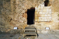 Garden Tomb. In Jerusalem, Israel. The tomb is believed by some Christians to be the burial and resurection site of Jesus Christ Royalty Free Stock Photos