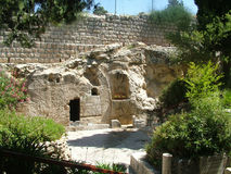 Garden Tomb Jerusalem stock photo