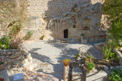 Garden Tomb in Jerusalem Stock Image