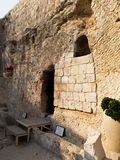 Empty Grave - Garden Tomb -Jerusalem Israel. Garden Tomb- Thought to be one of the possible site of Jesus Burial royalty free stock images