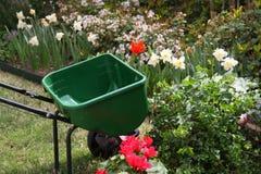 Garden tool and garden Royalty Free Stock Photo