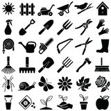 Garden tool icons Zdjęcie Royalty Free