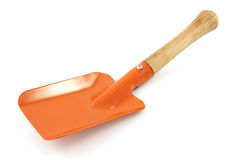 Garden tool; orange shovel Royalty Free Stock Image