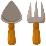 Garden tools. Illustration of isolated garden tools on white background Stock Image