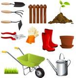 Garden tools. Set illustration background Royalty Free Stock Images