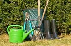 Garden tools. Various garden tools for gardening Stock Photography