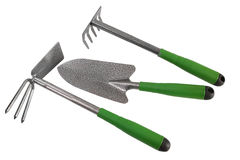 Garden tools. Isolated on white Royalty Free Stock Photo