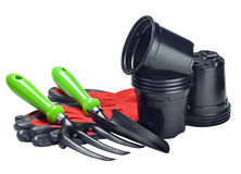 Garden tools and accessories Royalty Free Stock Images