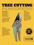 Garden Tools Ad Poster royalty free illustration