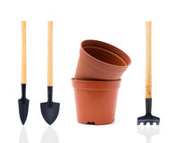 Garden tools (Clipping Path). Garden tools on white backgroung Royalty Free Stock Images