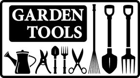 Garden tools collection Stock Photo
