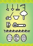 Garden tools. Color vector illustration Royalty Free Stock Images
