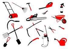 Garden tools colored Royalty Free Stock Photos