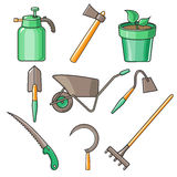 Garden Tools Flat Design illustration Stock Photos
