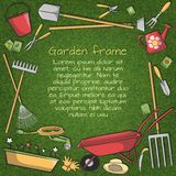 Garden tools frame Stock Images