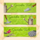 Garden tools horizontal banners Royalty Free Stock Photography