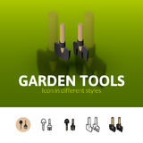 Garden tools icon in different style Royalty Free Stock Photos
