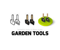 Garden tools icon in different style Stock Photos