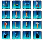 Garden tools icon set. Garden tools web icons for user interface design Stock Photos