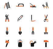 Garden tools icon set. Garden tools web icons for user interface design Royalty Free Stock Photography