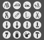 Garden tools icon set. Garden tools web icons for user interface design stock illustration