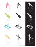 Garden Tools Icon (Vector). Colorful set of icons of garden tools in 3 styles; Easy edit vector art Stock Image