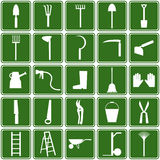 Garden tools icons Royalty Free Stock Photo