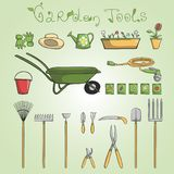 Garden tools icons set Royalty Free Stock Photos