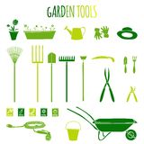 Garden tools icons set Royalty Free Stock Images