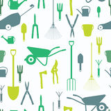 Garden Tools, Instruments Flat Icon Collection Set. Shovel, buck Stock Photography