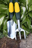 Garden tools for planting Stock Photos