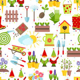 Garden tools seamless background Royalty Free Stock Photo