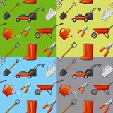 Garden tools seamless pattern Stock Photography