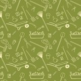 Garden tools seamless pattern Royalty Free Stock Image