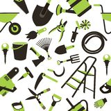 Garden tools seamless pattern Stock Images