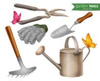 Garden tools set stock illustration
