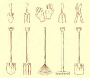 Garden tools set Royalty Free Stock Image