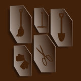 Garden Tools. Set of icons on a theme of gardening tools Stock Photography